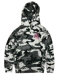 Anti Social Social Club ASSC Hoodie Size L Pink Logo Frozen Snow Camo