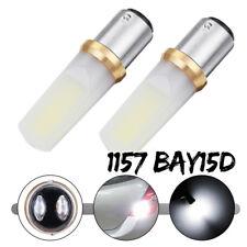 2X COB 48SMD 4W 1157 BAY15D LED Reverse Brake Light Turn Signal Lamp Bulb White