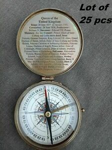 Nautical Compass Queen Victoria Of The United kingdom Brass Compass Lot of 25