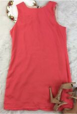 NAVEN Neon Collection Pink Lined Shift Dress Size 10 Chunky Zipper Sleeveless