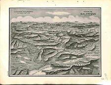 Map Carte Région Salonique Thessaloniki Thessalonique Bulgaria Bulgarie 1915 WWI