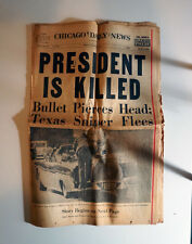 JFK Assassination Newspapers (Lot of 6 from L.A, San Fran & Chicago + Clippings)