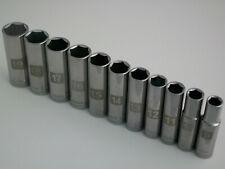 "NEW Craftsman 11pc 3/8"" Metric/mm Dual Marked Deep Laser Socket Wrench Set 6pt"