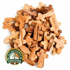 50 Olive Wood Small Pocket - Holding Crosses