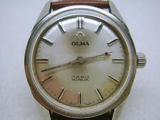 Vintage swiss made OLMA 17J men's watch 1950's-03186