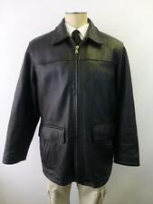 mens WILSONS M Julian thick black zip up lined LEATHER winter Jacket Coat Medium