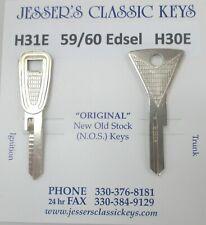 Ford '59 EDSEL Keys OEM Nickel NOS 1959