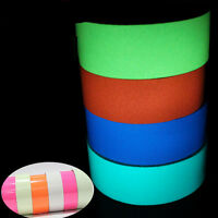 1Piece Glow in the Dark Adhesive Strip PVC Neon Tape Tow Sizes Four Colors