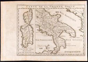 1747 - Carta Antica Di La Grande Grecia: Italia, Sardegna, Corsica/Italia