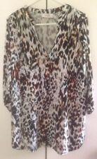 Wallis Petite Blouse Top Tunic UK M Euro 40 - 42 BNWOT Animal Print 3/4 Sleeves