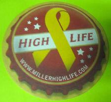 HIGH LIFE LIGHT YELLOW RIBBON VETS, Beer COASTER MAT Miller Milwaukee, WISCONSIN