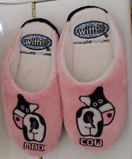 41f8693e3eeae Paire de pantoufles femme avec visuels vache couleur rose pointure 37