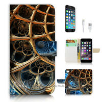( For iPhone 6 / 6S ) Wallet Case Cover P2993 Abstract