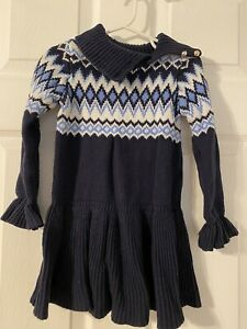 Janie and Jack Blue Sweater Dress size 4T