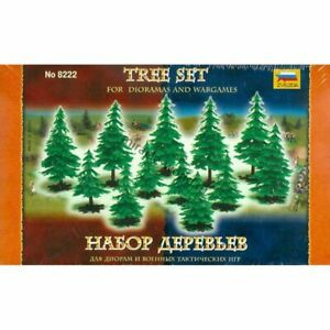 Zvezda 8222 Tree Set for dioramas & wargames (12 tree, some different size) 1/72