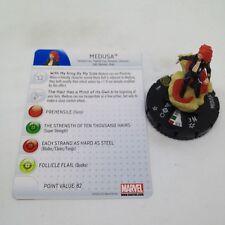 Heroclix Galactic Guardians set Medusa #042 Super Rare figure w/card!