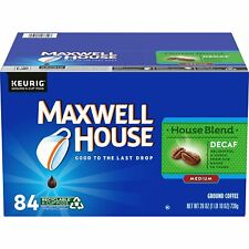 New listing Maxwell House Decaf House Blend Medium Roast K-Cup Coffee Pods - 84 Pods x 2Pack