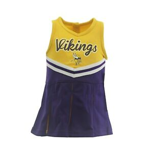 Minnesota Vikings NFL Infant Toddler Size Cheerleader Outfit with Bottoms New