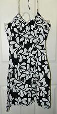 H&M Black White Hawaiian Halter Dress* 4