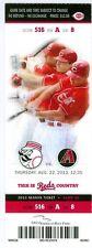 2013 Reds vs Diamondbacks Ticket: Paul Goldschmidt 3 hits/Mat Latos Win