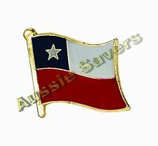 CHILE (CHILEAN) FLAG HAT PIN / BADGE - BRAND NEW