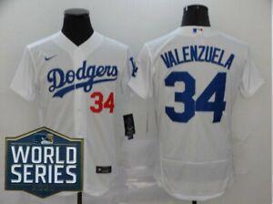 fernando valenzuela #34 Los Angeles Dodgers mens Stitched Jersey world series