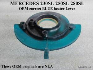 MERCEDES 230SL 250SL Heater Control Lever BLUE OEM W113 Pagoda