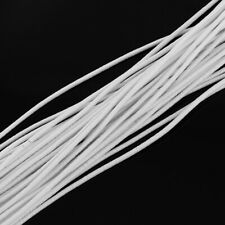 5 meters  Round Elastic Cord, , white, 2.5mm craft DIY hair or face mask supply