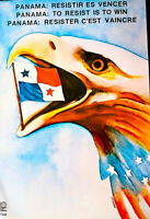 PANAMA RESIST TO WIN - CUBA OSPAAAL 1989 ALBERTO BLANCO ORIGINAL POSTER SCARCE