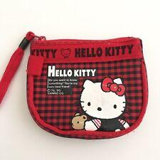 Vintage Sanrio Hello Kitty Coin Purse Pouch 1976/ 1990 Little Bear Friend Plaid