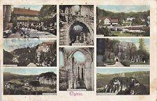 I 96-Oybin, più immagine M CROCE corridoio, stazione, monastero rovine 1905 GLF.
