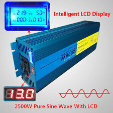 Digital Display Pure Sine Wave power inverter 2500W Peak 5000W DC 12V TO AC 220V