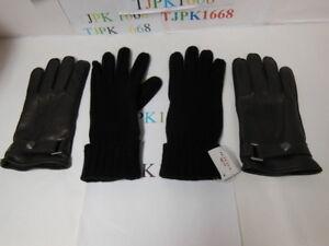 NWT COACH~Mahogany~Men 3 IN 1 Sheep Skin Leather Glove Size S F85859