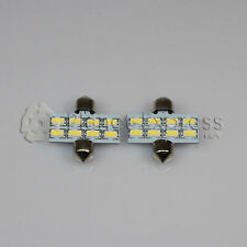 2x Light bulbs 8 SMD LED 5630 White C5W Festoon 31mm Registration interior