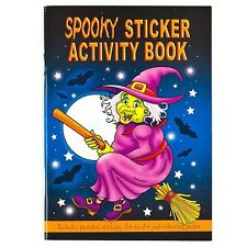 10 x SPOOKY HALLOWEEN 36 PAGE KIDS ACTIVITY COLOUR STICKER BOOKS TRICK OR TREAT
