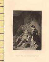 C1860 Vittoriano Stampa ~ King Henry VIII The Ottava & Catherine Parr