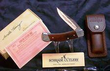 Schrade LB5 Lockback Knife & Sheath Uncle Henry USA Made W/Packaging Paperwork