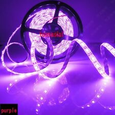 16.4ft 5M UV Ultraviolet 395nm 5050 SMD Purple 300 LED Flex Strip Light 12V New