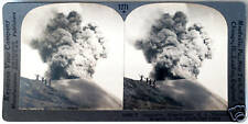 Keystone Stereoview of an Active Volcano, JAVA D. E. I. from the 1930's T400 Set