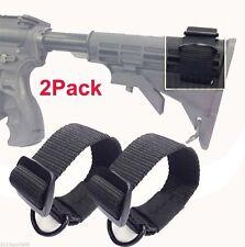 2Pcs Universal Rifle Gun Shotgun Stock Single Point Sling Loop Adapter Strap 46