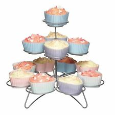Kitchen Craft 3 Tier 13 Cup Cake Cupcake Muffin Wire Tree Display Stand