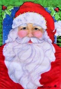"""Santa Claus Garden Flag by Toland, 12.5"""" x 18"""",  #2357, Christmas"""