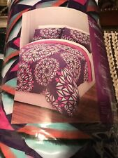 TWIN - Pink & Purple Girls Latitude Geometric Metallic Bed in A Bag Bedding Set
