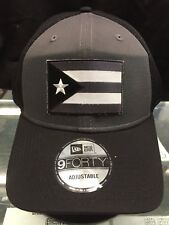 2ddfa278 New Era NE204 Grey Black Snapback w/ Subdued Grey Puerto Rico Rican Flag  Patch