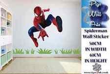 Spiderman Pared Adhesivo Super Héroe Childrens bedroom la etiqueta de la pared grande