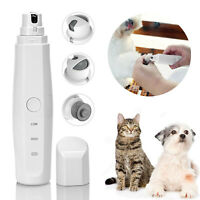 Electric Pet Nail Pedicure Trimmer Grinder Grooming Tool Care Clipper Dog Cat
