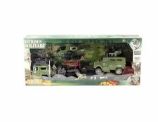 SOLDIER FORCE 9 PIECES PLAYSET ACCESSORIES  HELICOPTER TRUCK JEEP ARMY EQUIPMENT