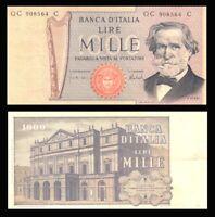 Italy 1000 Lire Banknote, 1969-1981, P-101,VF+ / *  Giuseppe Verdi  ***