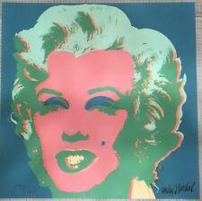 Andy Warhol Marilyn Monroe 60x60 cm Certificato di autenticita' MZ023