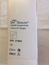 bvi Beaver Visitec Xstar Crescent Knife 373808, Box of 10